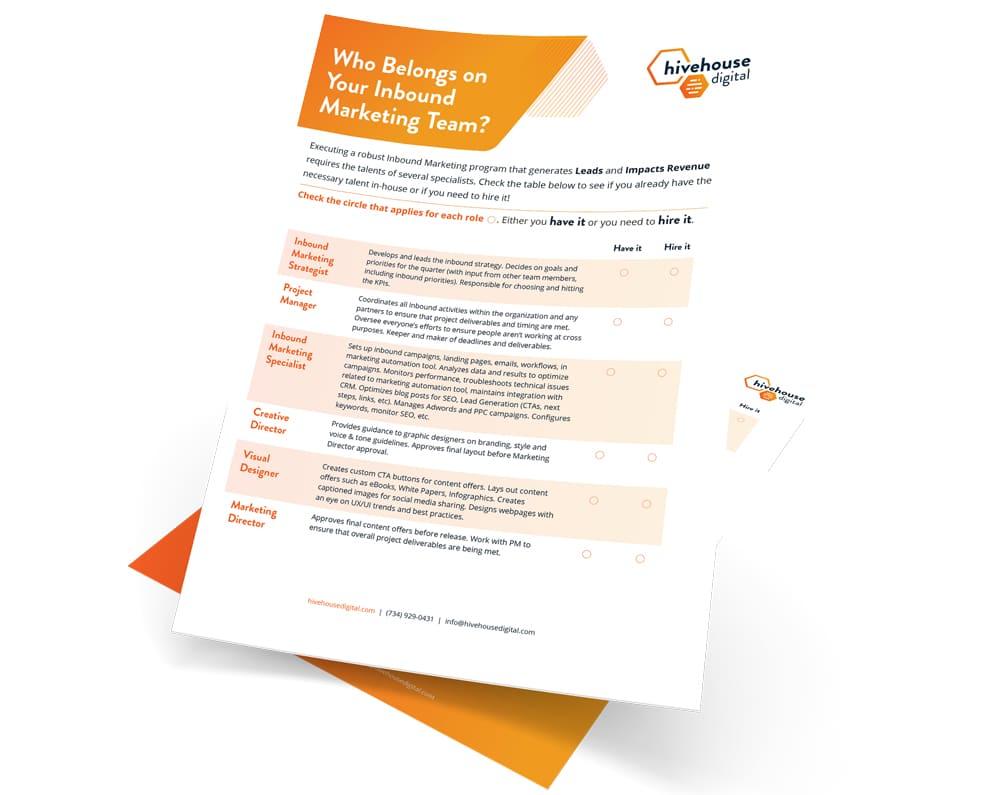 """Featured image for """"Inbound Marketing Team Checklist"""""""