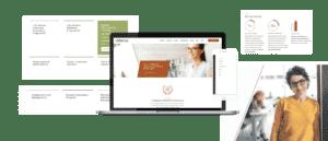 Ulliance portfolio images of web design