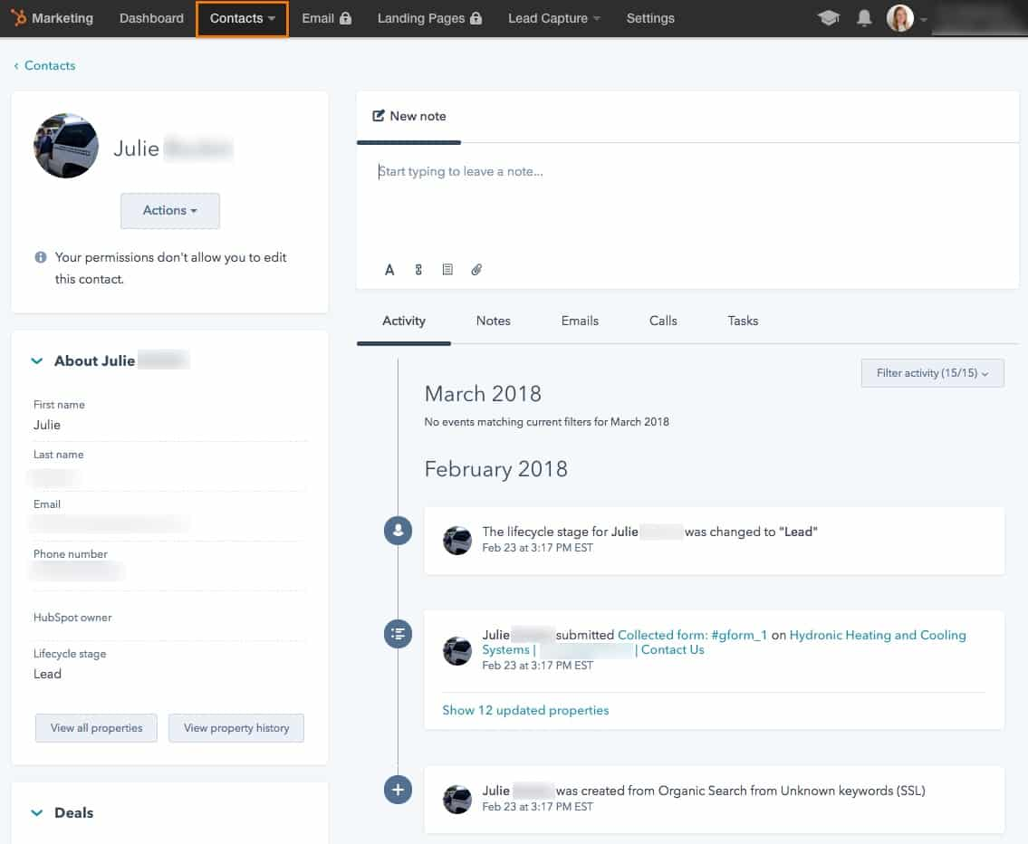 HubSpot Contact insights setup