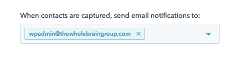 HubSpot lead flow email notifications setup