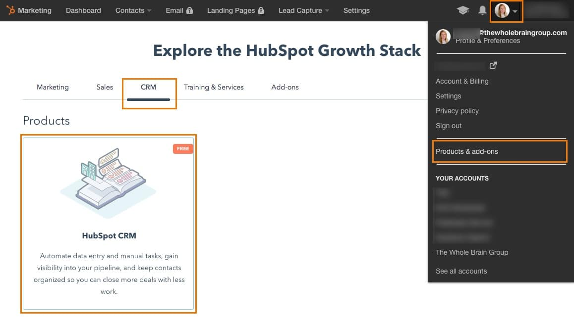 HubSpot Free CRM tool setup