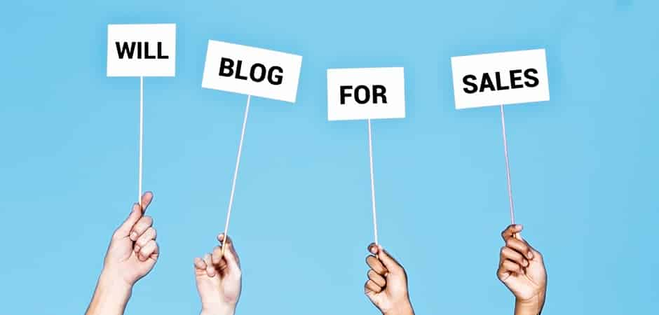Will blog for sales