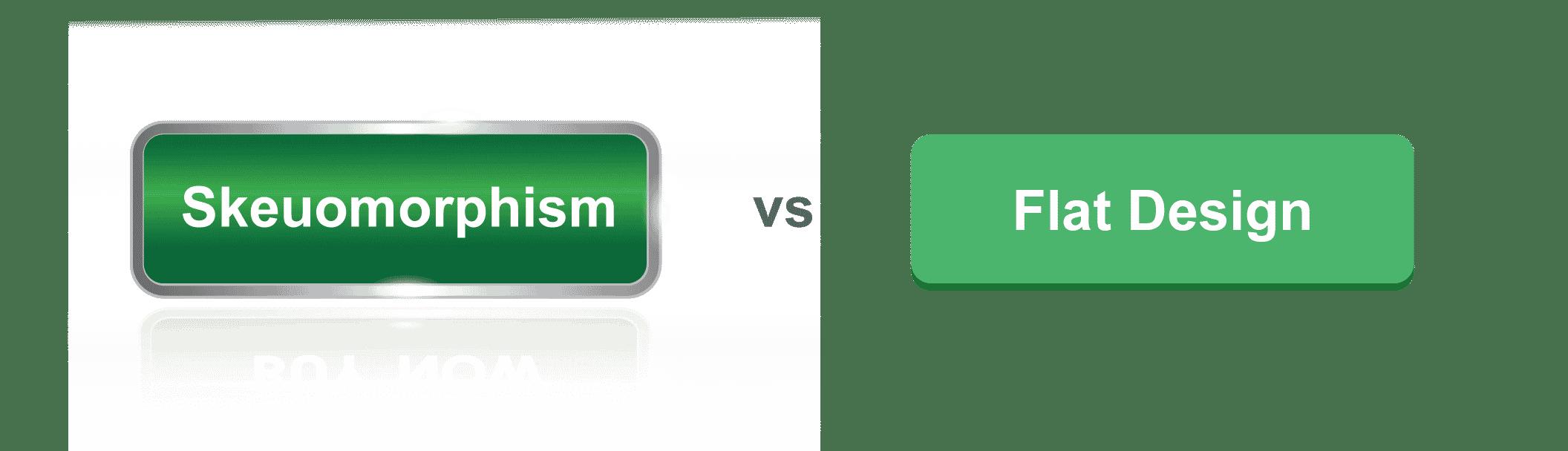 Skeuomorphism vs flat design