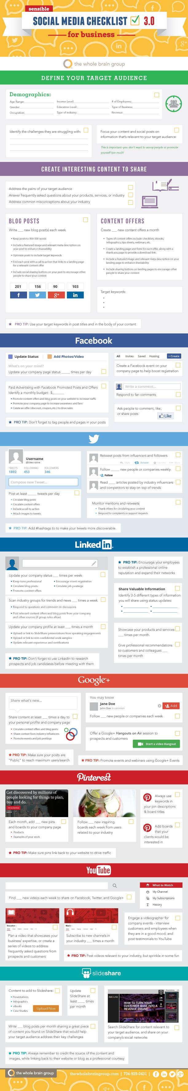 Social Media Marketing Checklist v3.0