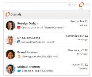 Hubspot Signals Email Notification