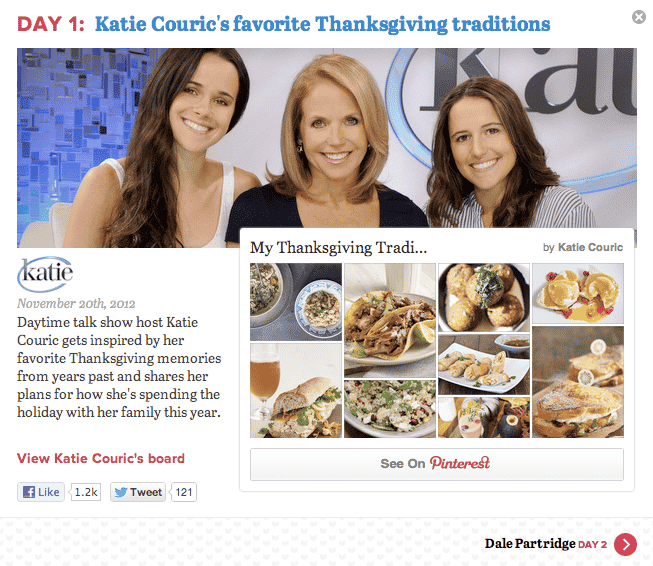 Katie Couric pin board