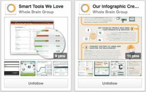 Whole Brain Group Pinterest Boards
