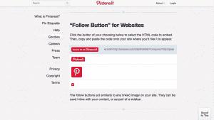 Pinterest Website Integration