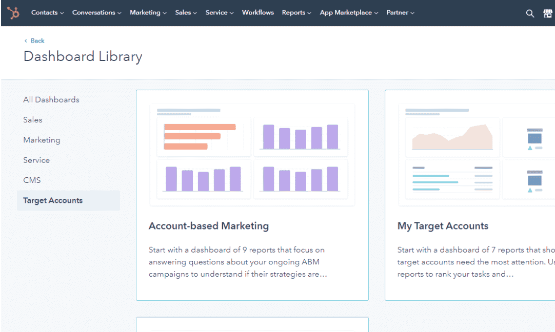 HubSpot ABM Dashboard - Account-Based Marketing