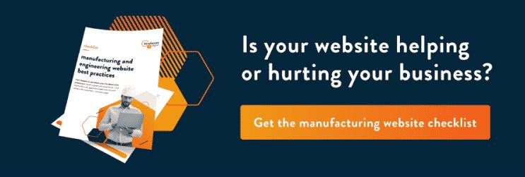 Get the manufacturing website checklist