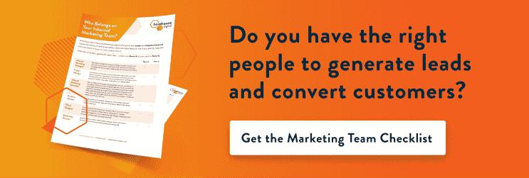 get the marketing team checklist